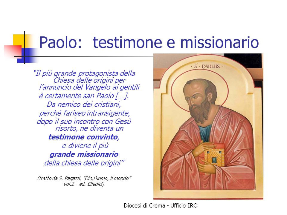 Paolo: testimone e missionario