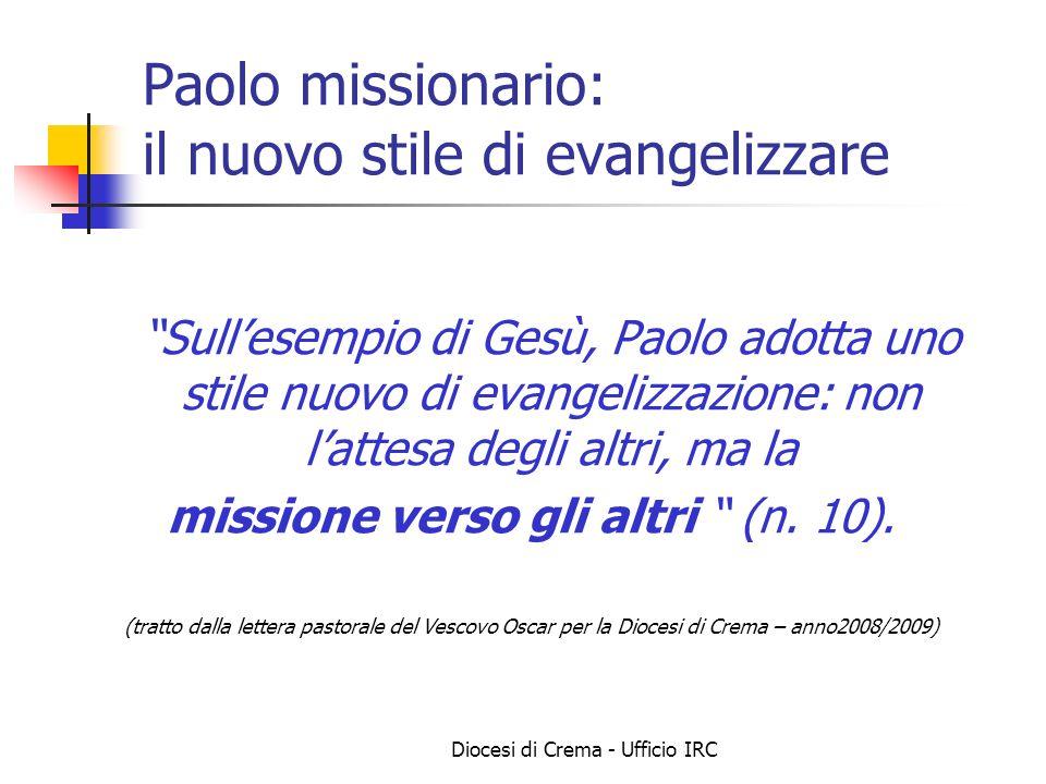 Paolo missionario: il nuovo stile di evangelizzare