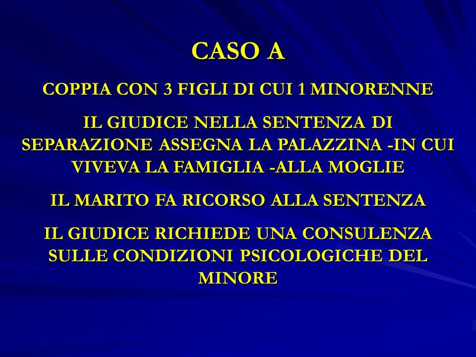 CASO A COPPIA CON 3 FIGLI DI CUI 1 MINORENNE