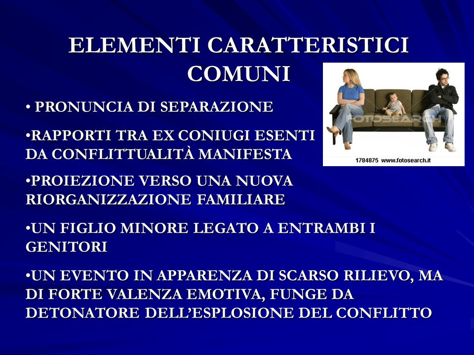ELEMENTI CARATTERISTICI COMUNI