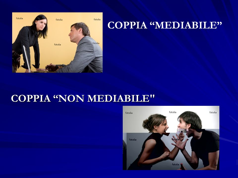 COPPIA MEDIABILE COPPIA NON MEDIABILE