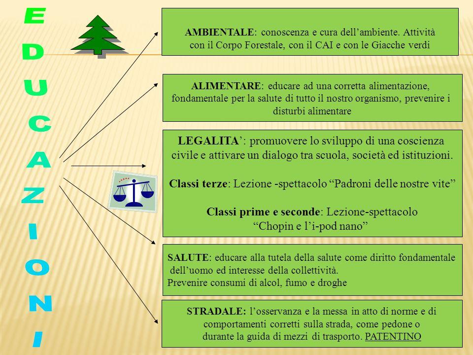 EDUCAZIONI LEGALITA': promuovere lo sviluppo di una coscienza