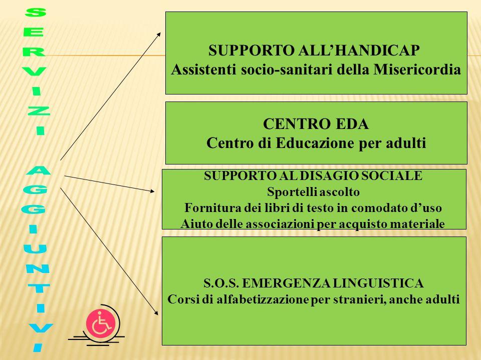 SERVIZI AGGIUNTIVI SUPPORTO ALL'HANDICAP
