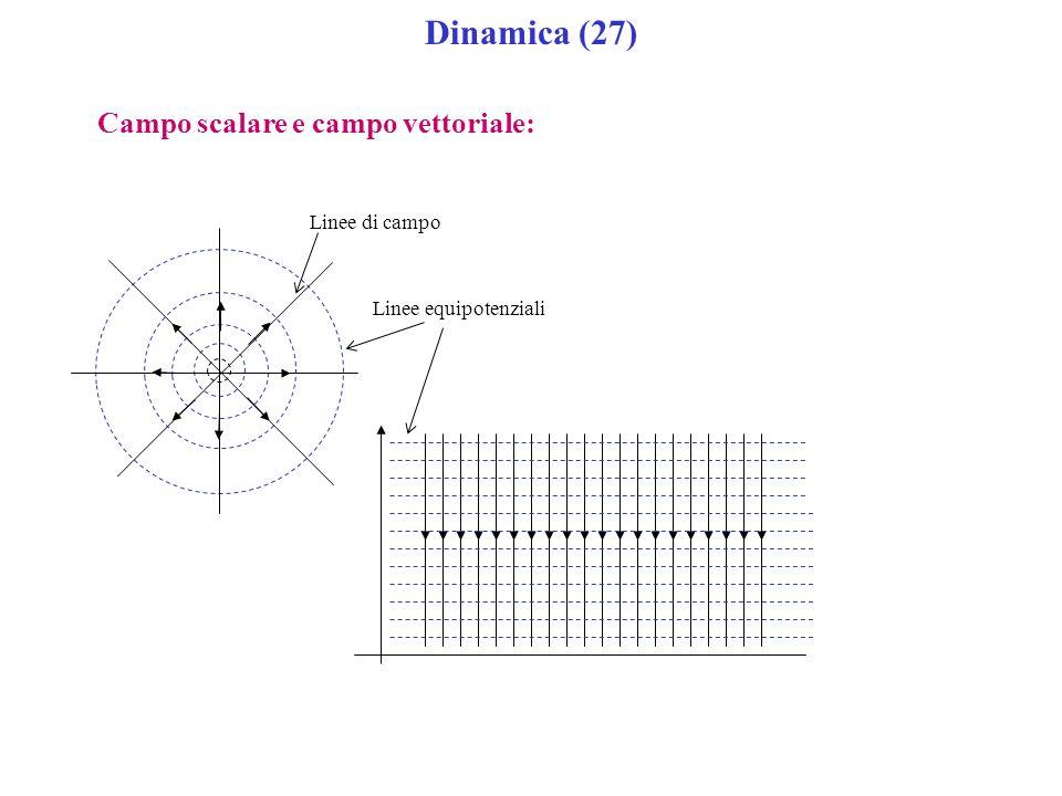 Dinamica (27) Campo scalare e campo vettoriale: Linee di campo