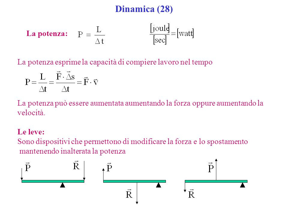Dinamica (28) La potenza:
