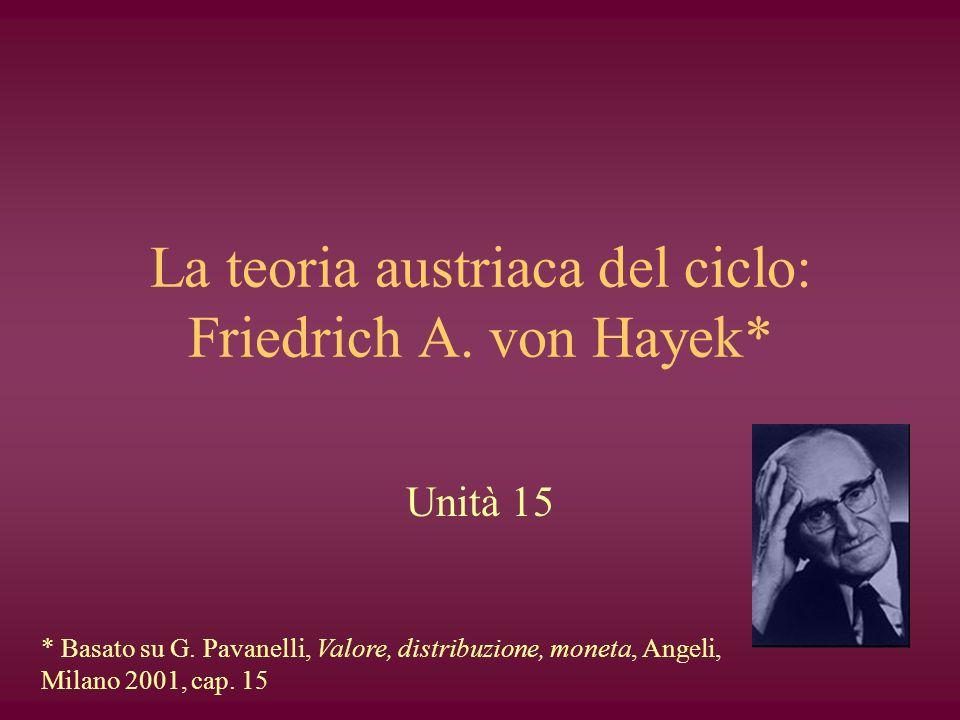 La teoria austriaca del ciclo: Friedrich A. von Hayek*