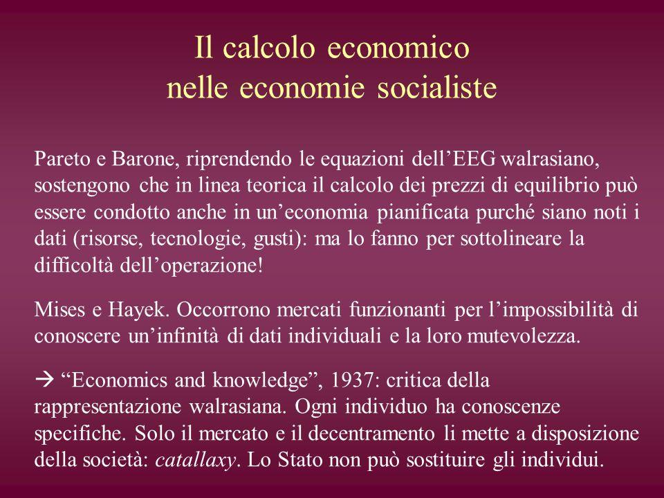 Il calcolo economico nelle economie socialiste