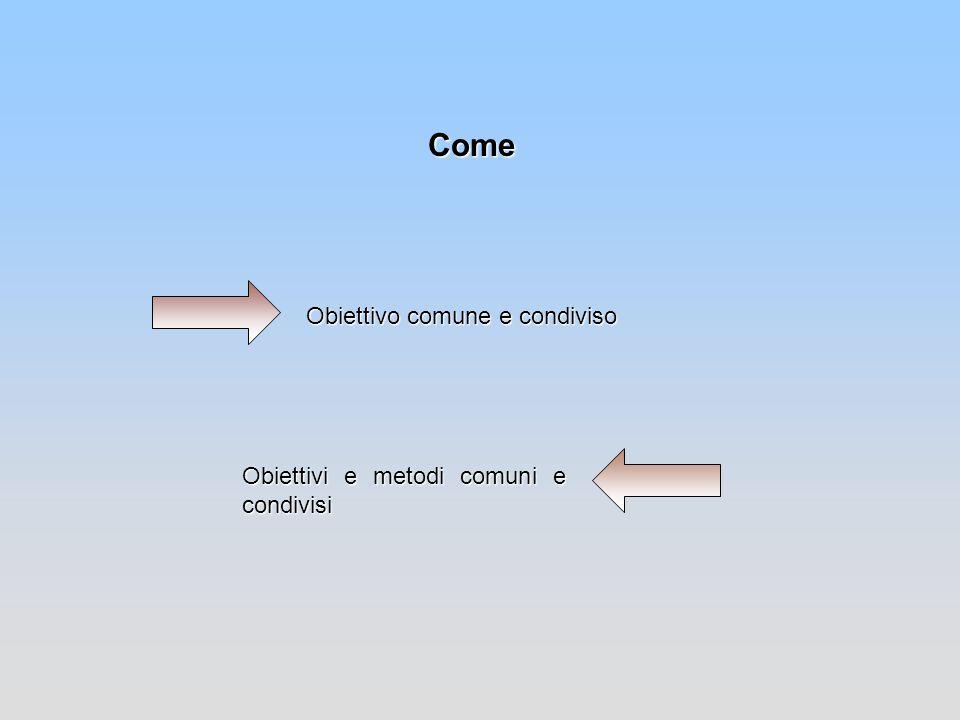 Come Obiettivo comune e condiviso