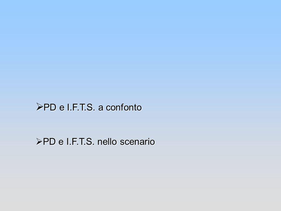 PD e I.F.T.S. a confonto PD e I.F.T.S. nello scenario