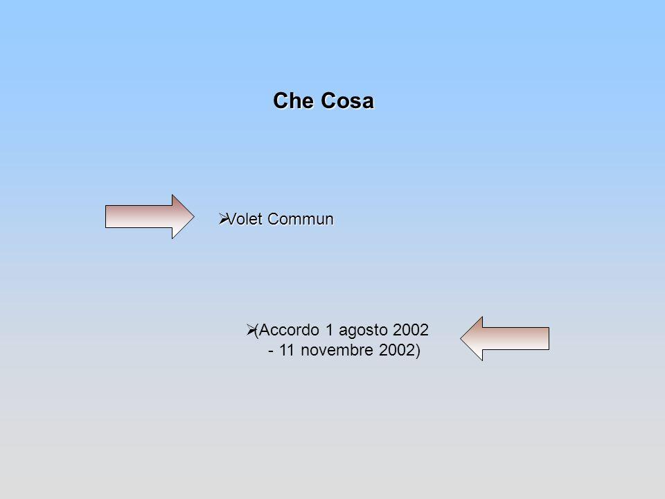 Che Cosa Volet Commun (Accordo 1 agosto 2002 - 11 novembre 2002)