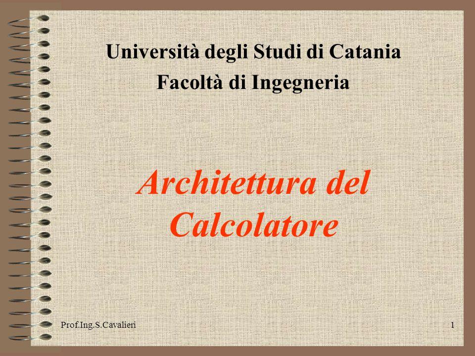 Università degli Studi di Catania Architettura del Calcolatore