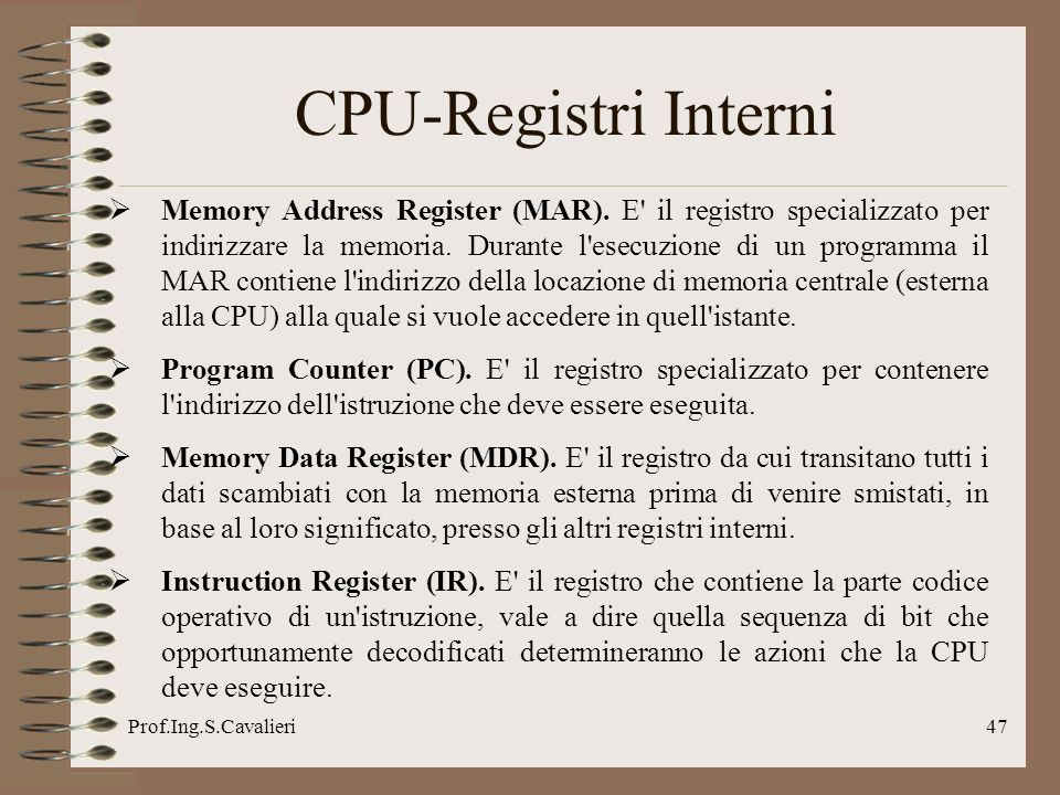 CPU-Registri Interni