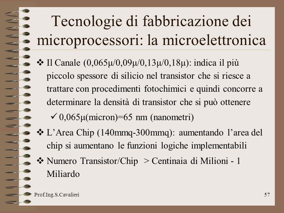 Tecnologie di fabbricazione dei microprocessori: la microelettronica