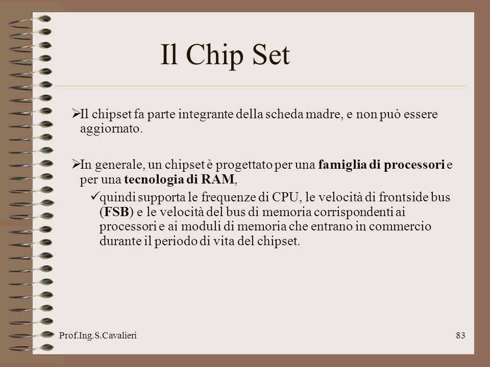 Il Chip Set Il chipset fa parte integrante della scheda madre, e non può essere aggiornato.