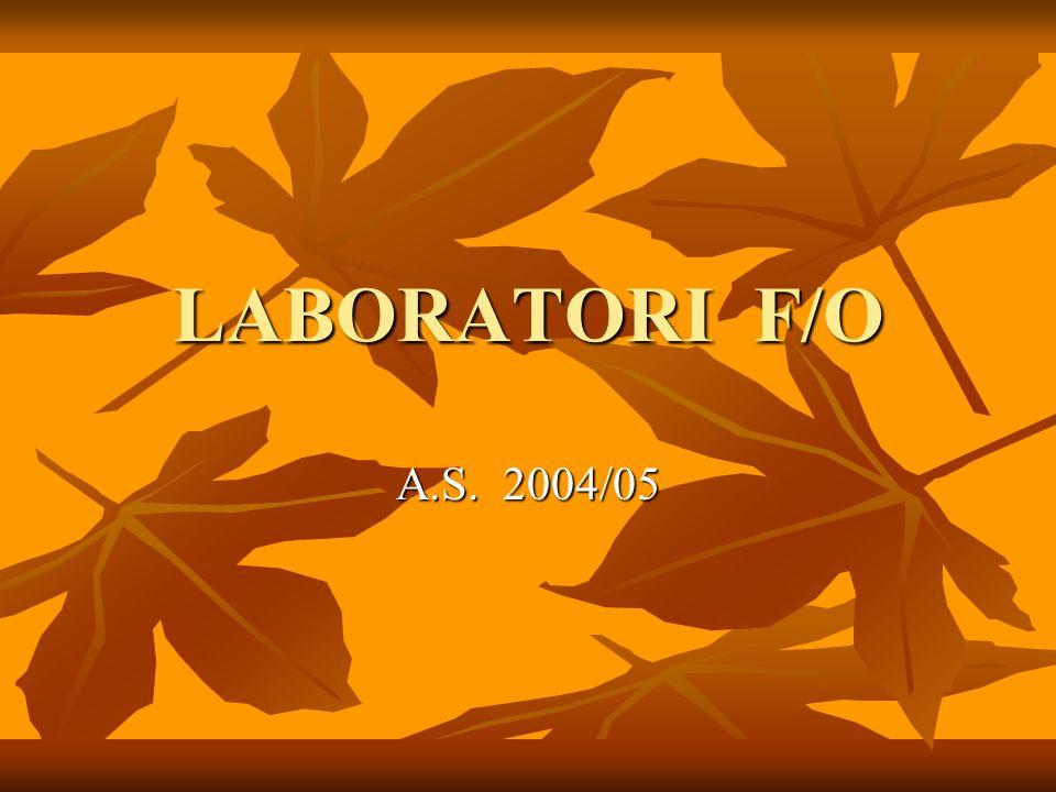 LABORATORI F/O A.S. 2004/05