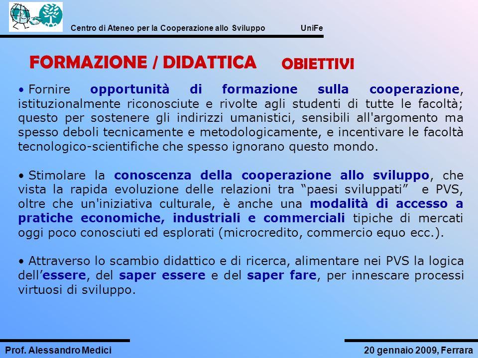 FORMAZIONE / DIDATTICA