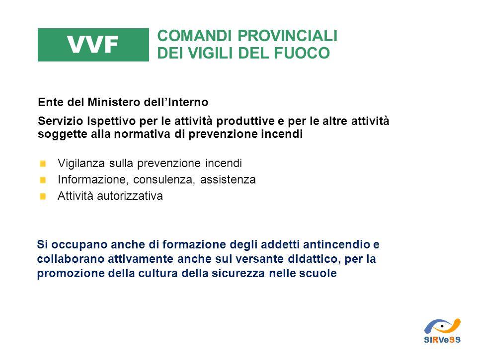 VVF COMANDI PROVINCIALI DEI VIGILI DEL FUOCO