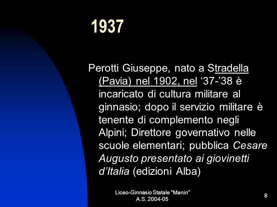 Liceo-Ginnasio Statale Manin A.S. 2004-05