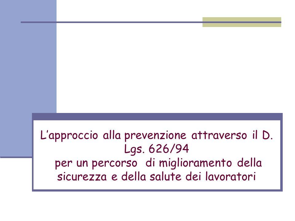 L'approccio alla prevenzione attraverso il D. Lgs