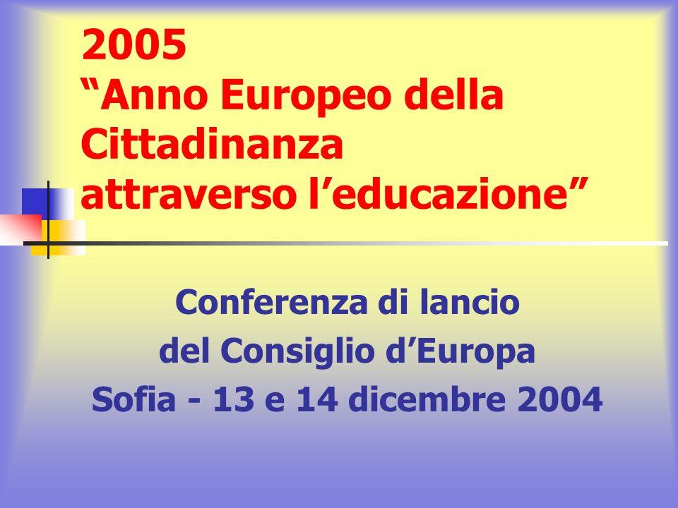 2005 Anno Europeo della Cittadinanza attraverso l'educazione