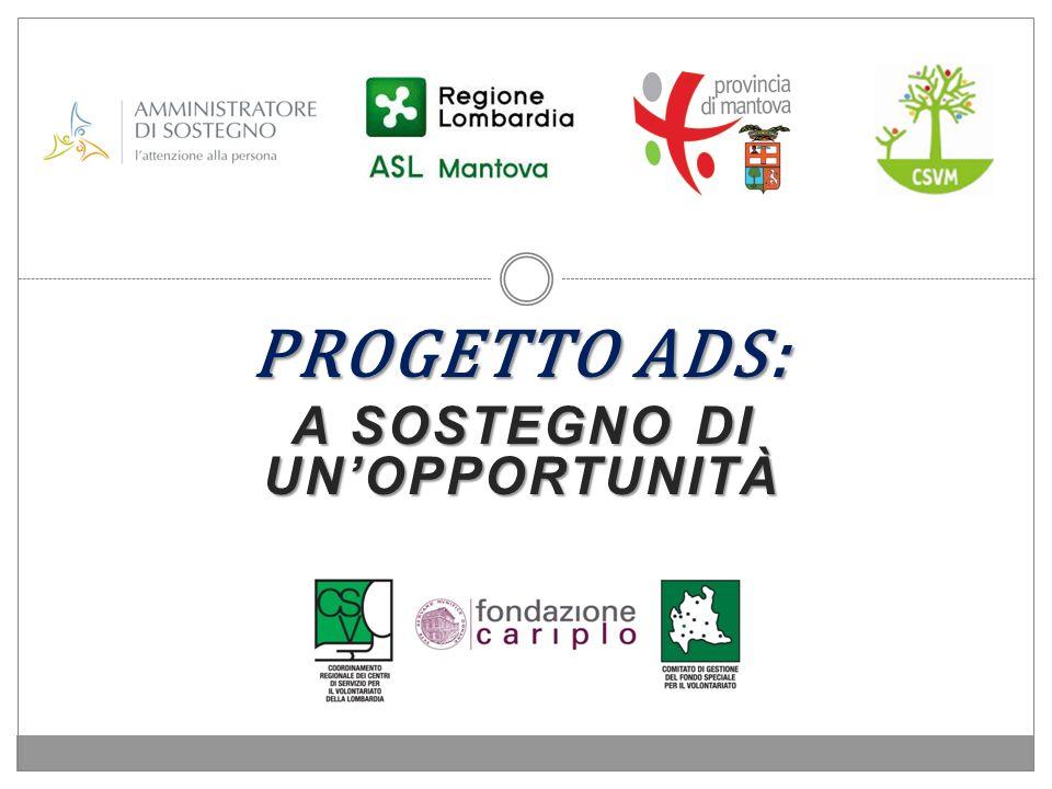 Progetto Ads: a sostegno di un'opportunità