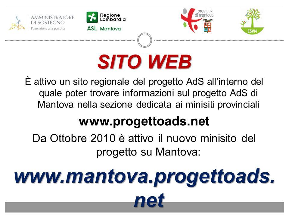 Da Ottobre 2010 è attivo il nuovo minisito del progetto su Mantova: