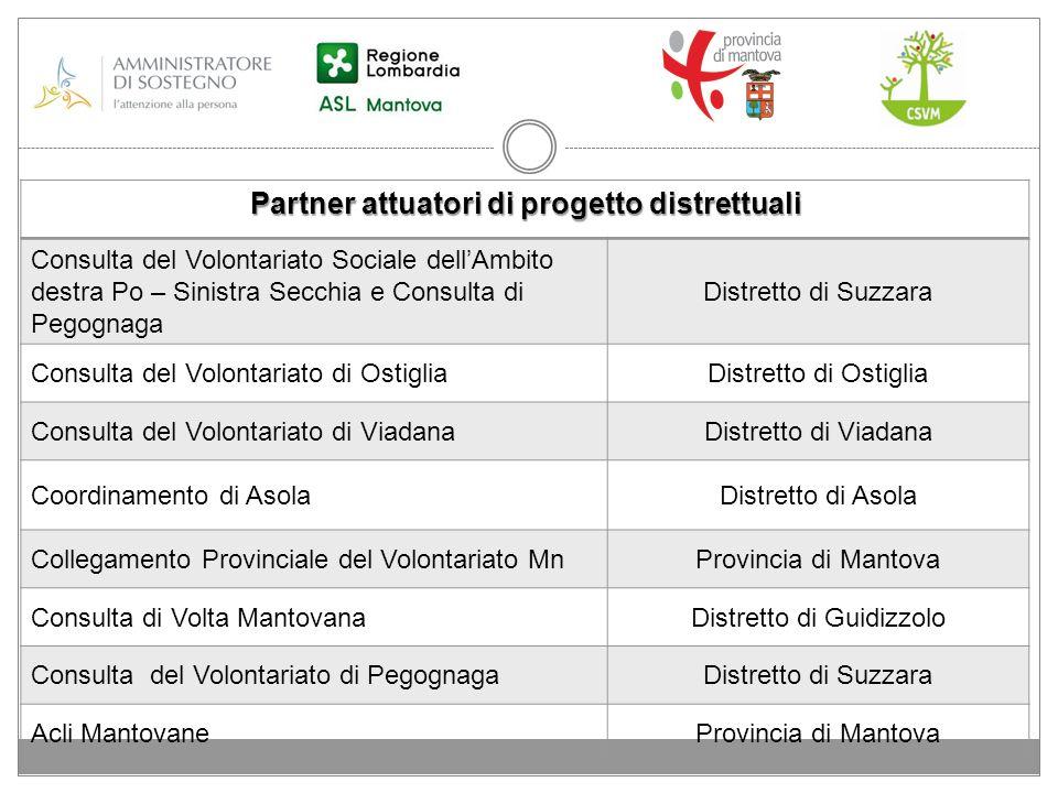 Partner attuatori di progetto distrettuali