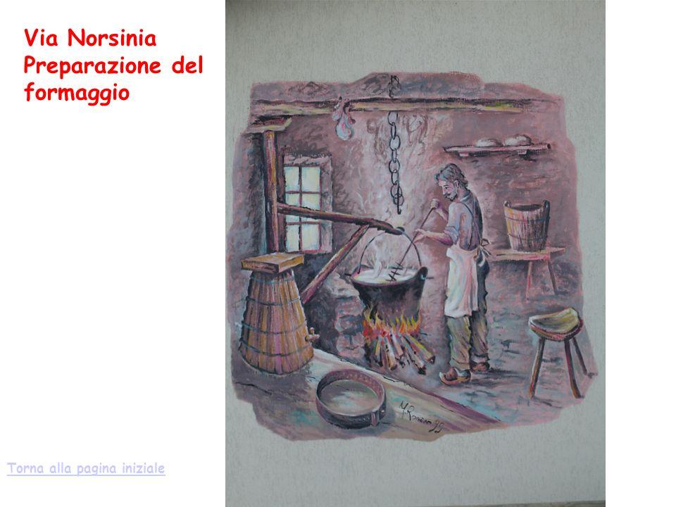Via Norsinia Preparazione del formaggio