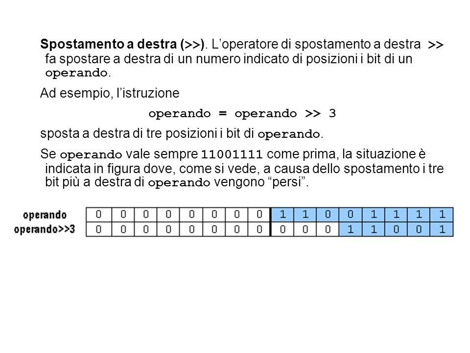 operando = operando >> 3
