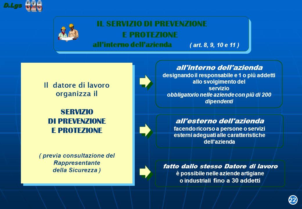 626 E PROTEZIONE IL SERVIZIO DI PREVENZIONE