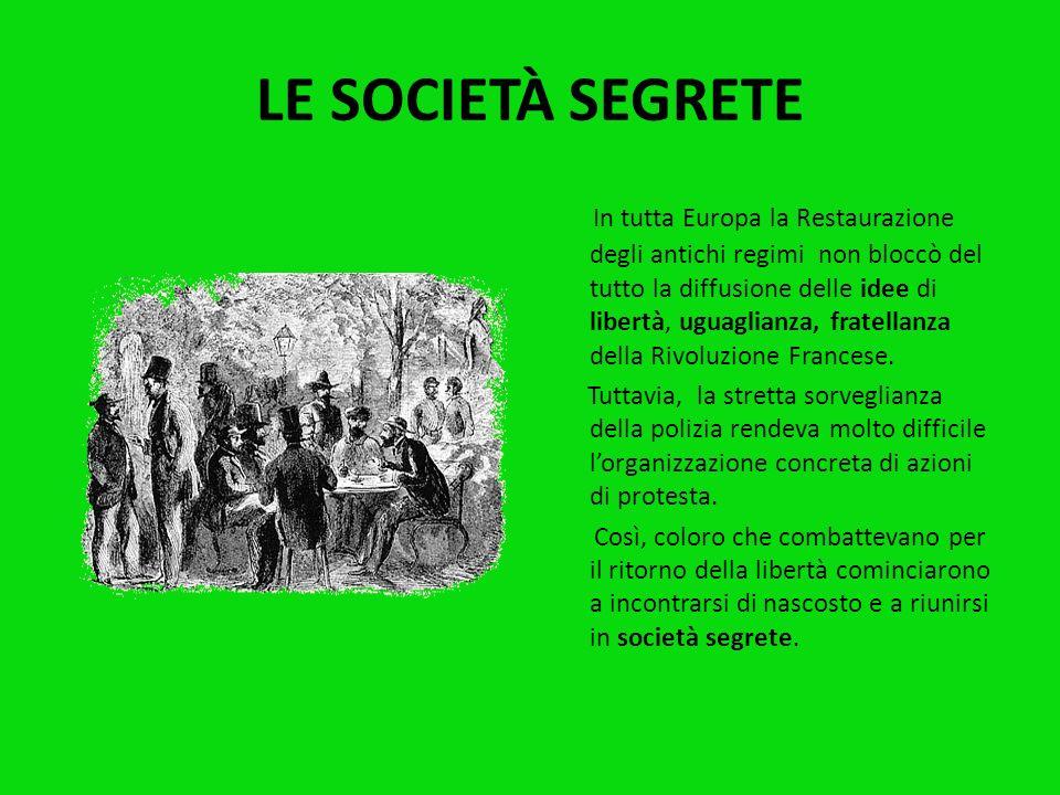 LE SOCIETÀ SEGRETE
