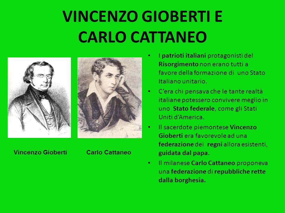 VINCENZO GIOBERTI E CARLO CATTANEO