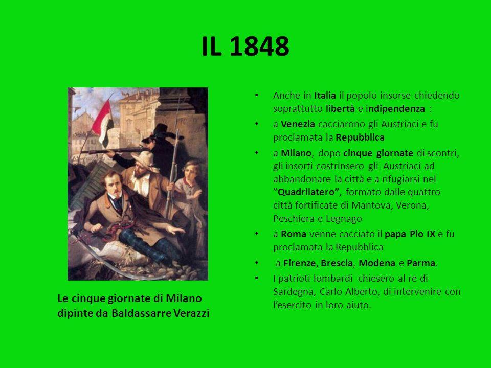 IL 1848 Le cinque giornate di Milano dipinte da Baldassarre Verazzi