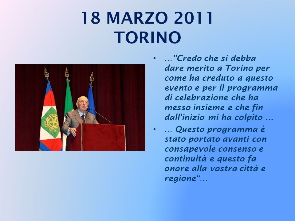 18 MARZO 2011 TORINO