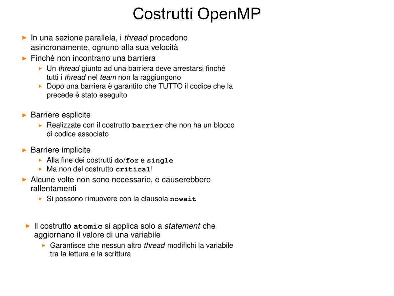 Costrutti OpenMP