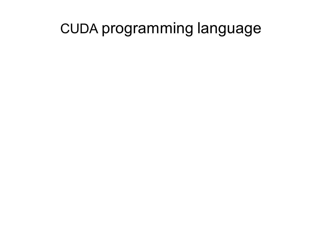 CUDA programming language