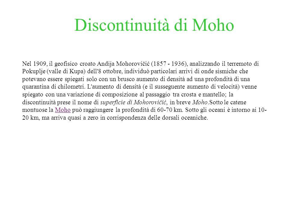 Discontinuità di Moho