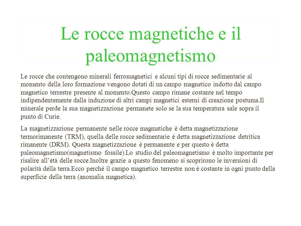 Le rocce magnetiche e il paleomagnetismo