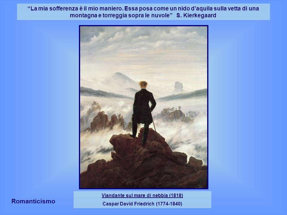 Viandante sul mare di nebbia (1818) Caspar David Friedrich (1774-1840)