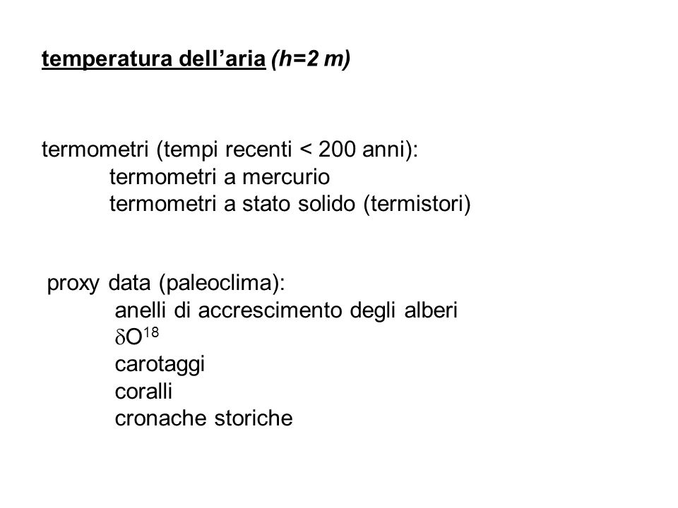 temperatura dell'aria (h=2 m)