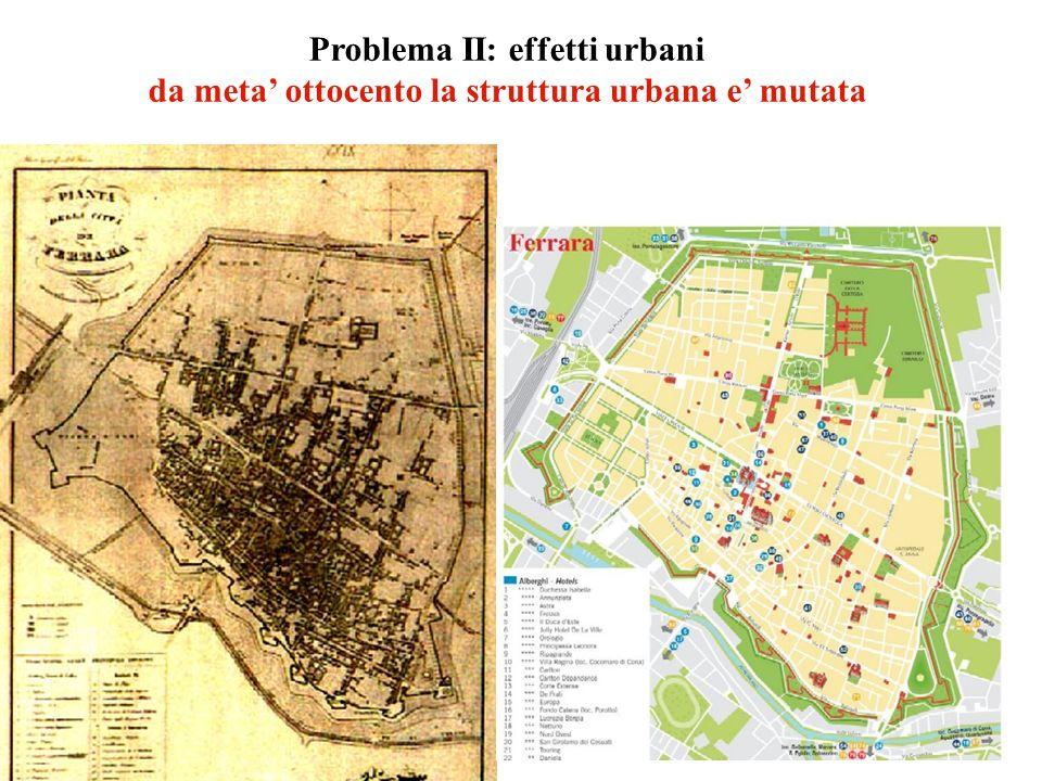 Problema II: effetti urbani