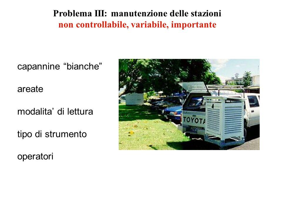 Problema III: manutenzione delle stazioni
