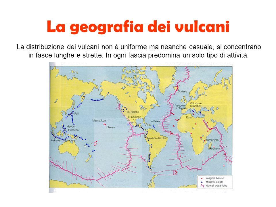 La geografia dei vulcani