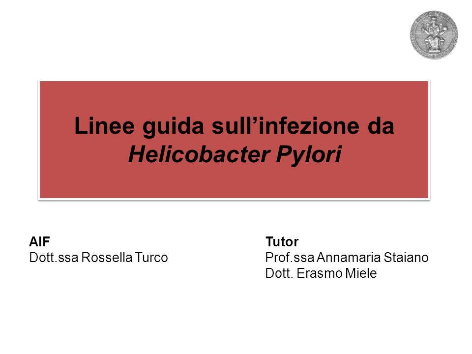 Linee guida sull'infezione da Helicobacter Pylori