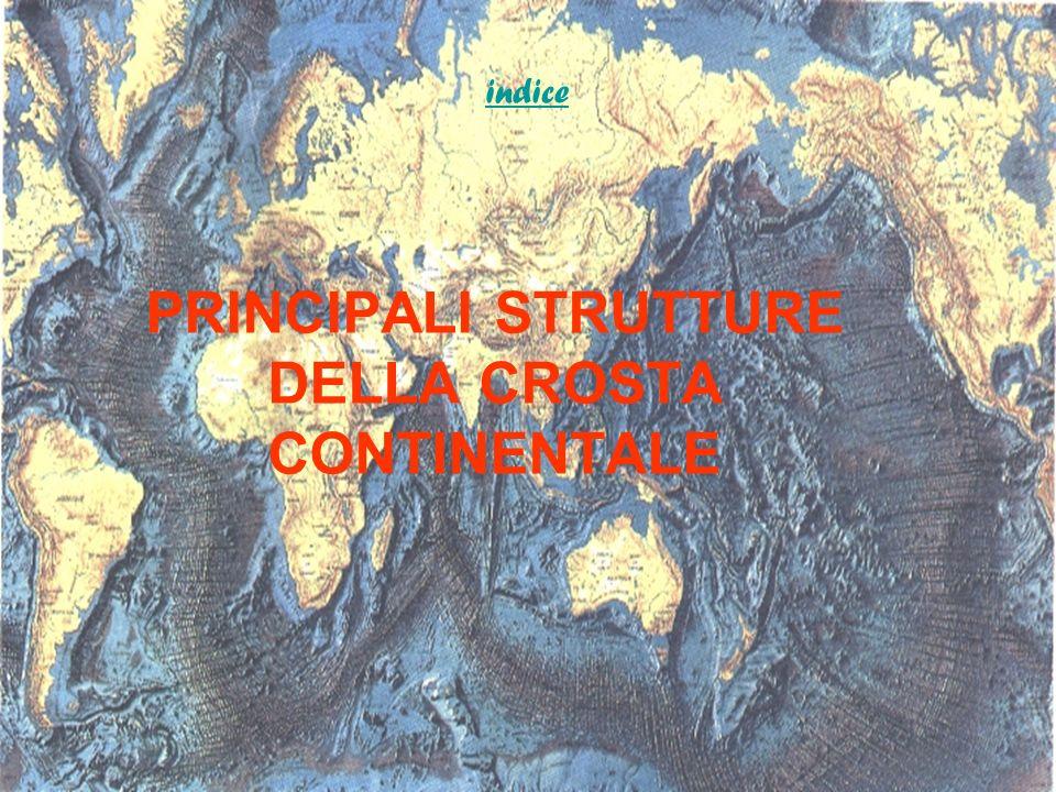 PRINCIPALI STRUTTURE DELLA CROSTA CONTINENTALE