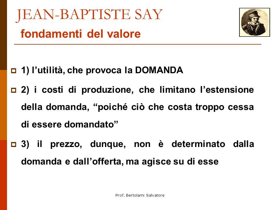 JEAN-BAPTISTE SAY fondamenti del valore