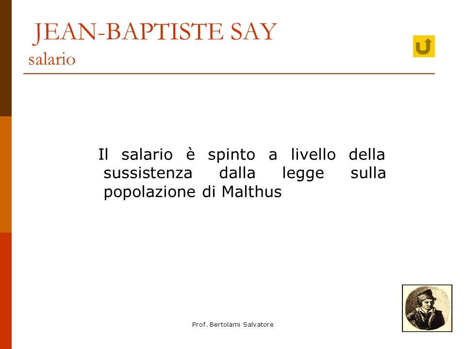 JEAN-BAPTISTE SAY salario
