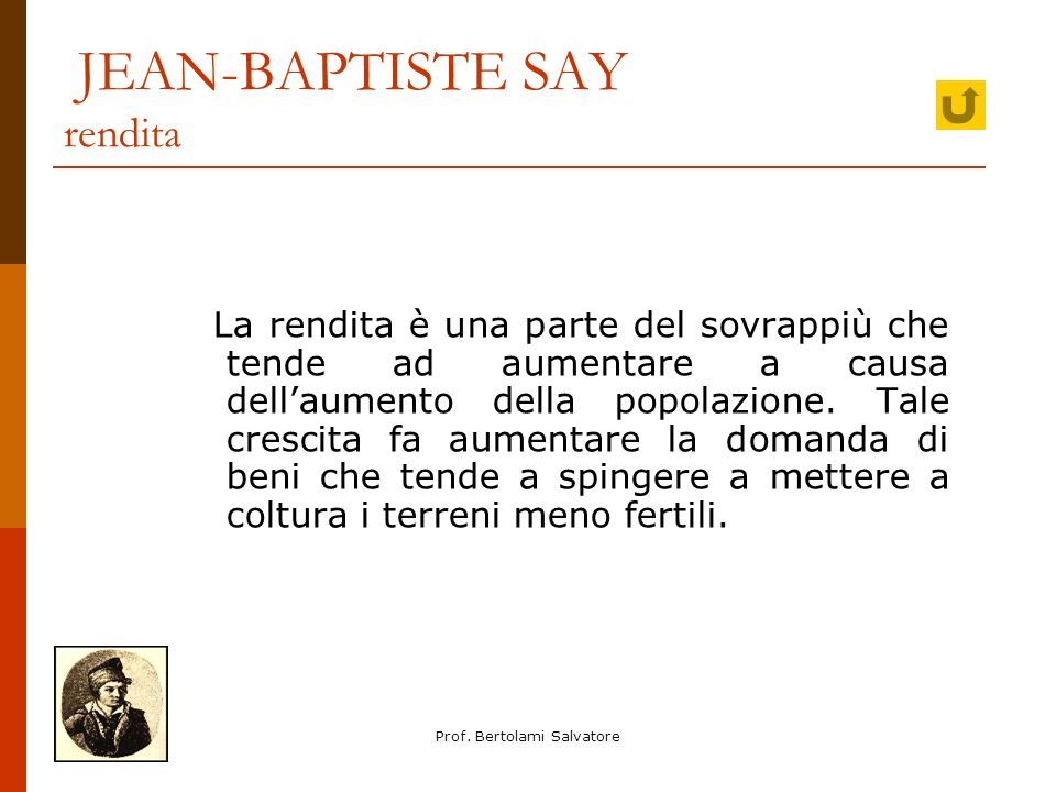 JEAN-BAPTISTE SAY rendita