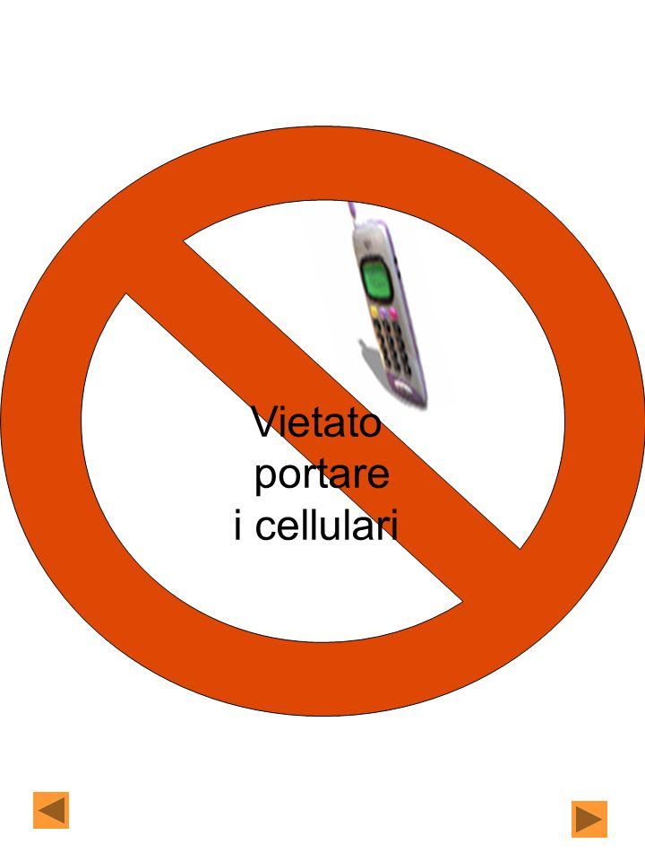 Vietato portare i cellulari