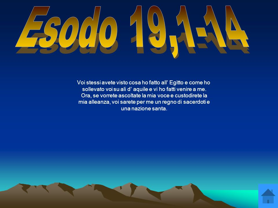 Esodo 19,1-14